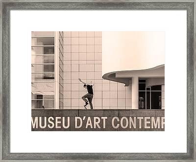Macba, Barcelona Framed Print
