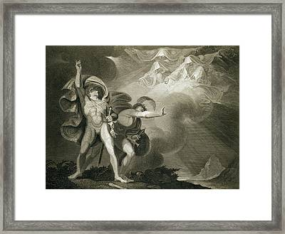 Macbeth Banquo And The Three Witches Framed Print