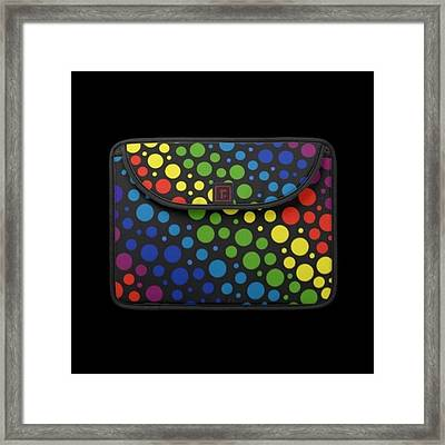 #macbook #cover #rainbow #awesome Framed Print