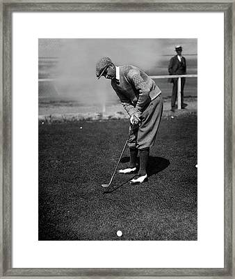 Macdonald Smith Playing Golf Framed Print by  Fotograms