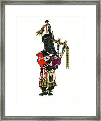 Macduff And The Pipes Framed Print