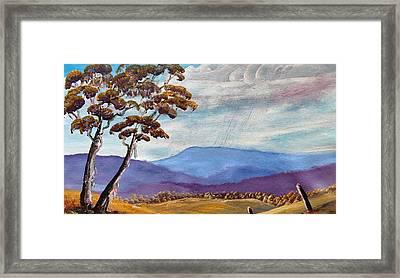 Macedon Blue Framed Print by David Belcastro