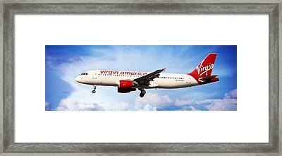 Framed Print featuring the photograph Virgin America Mach Daddy - Rare by Aaron Berg