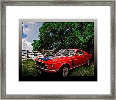 1969 Ford Mach 1 Mustang Framed Print