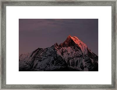 Machhapuchhare. Machapuchare Framed Print