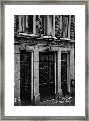 Machinale Houtebewerking Amsterdam Framed Print