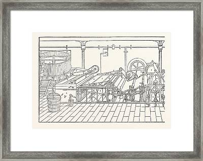 Machine A. Chest B. Vat 4 Feet By 5 C. Sifter D. Lifter E Framed Print by English School