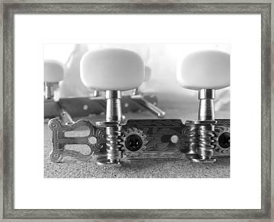 Machine Head In Black And White Framed Print
