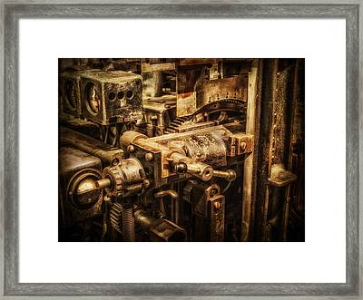 Machine Part Framed Print