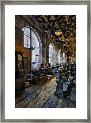 Machine Shop Framed Print by Susan Candelario