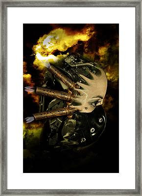 Machine Thoughts Framed Print by Nathan Wright