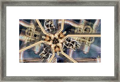 Machined Parts Framed Print