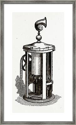 Machinery Of The  Safety Signal Framed Print by Litz Collection