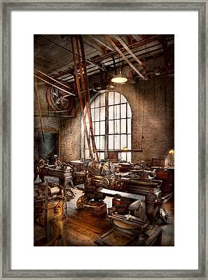 Machinist - I Like Big Tools Framed Print by Mike Savad
