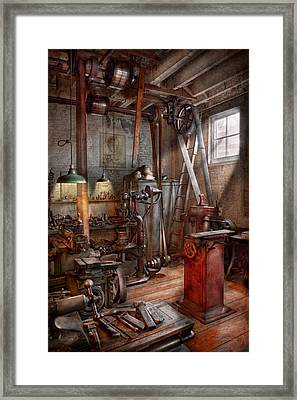 Machinist - The Modern Workshop  Framed Print
