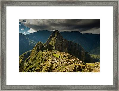 Machu Picchu, Ancient Ruins, Unesco Framed Print by Howie Garber