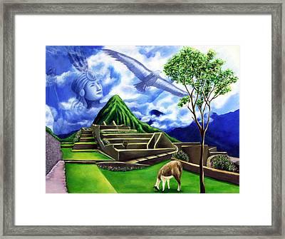 Machu Picchu Framed Print by Marilen Morales