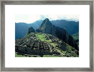 Machu Picchu, Peru Framed Print by Gregory G. Dimijian