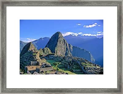 Machu Picchu Peru Framed Print by Ryan Fox