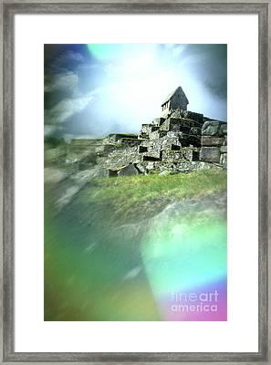 Machu Picchu Reflection Framed Print by Ryan Fox
