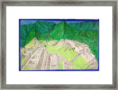 Machu Picchu Framed Print by Yusbel Lopez