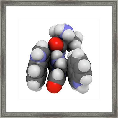 Macimorelin Adult Growth Hormone Drug Framed Print by Molekuul