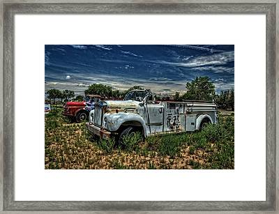 Framed Print featuring the photograph Mack Fire Truck by Ken Smith