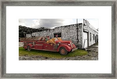Mack Firetruck Framed Print