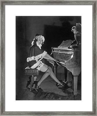 Mack Sennett Santa Claus Framed Print by Underwood Archives