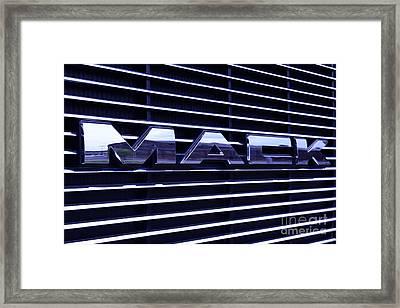 Mack Truck Grill Framed Print by Paul Ward