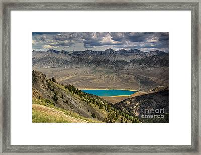 Mackay Reservoir And Lost River Range Framed Print by Robert Bales