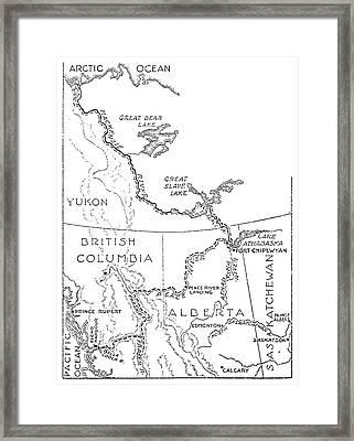 Mackenzie Map Framed Print by Granger