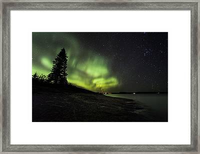 Mackenzie Point Aurora 4 Framed Print by Jakub Sisak