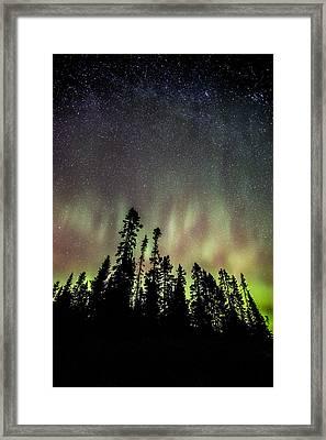 Mackenzie Point Aurora 1 Framed Print by Jakub Sisak