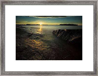 Mackenzie Point September Sunrize Framed Print by Jakub Sisak