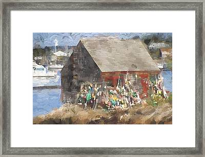 Mackerel Cove Maine Painterly Effect Framed Print