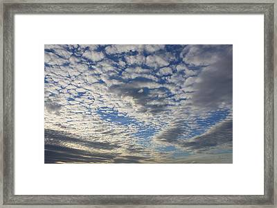 Mackerel Sky Natural Framed Print by Amanda Holmes Tzafrir