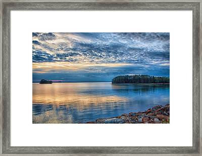 Mackerel Sunset Framed Print