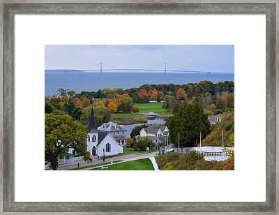 Mackinac Autumn Framed Print by Keith Stokes