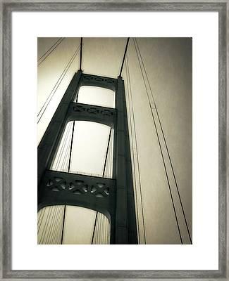 Mackinac Bridge 2.0 Framed Print by Michelle Calkins