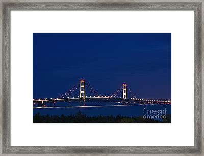 Mackinac Bridge - D002813 Framed Print by Daniel Dempster