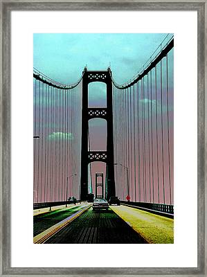 Mackinac Bridge Fantasy Framed Print by Terri Harper