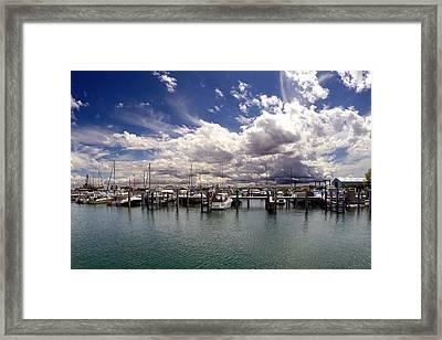 Mackinaw City Marina Framed Print