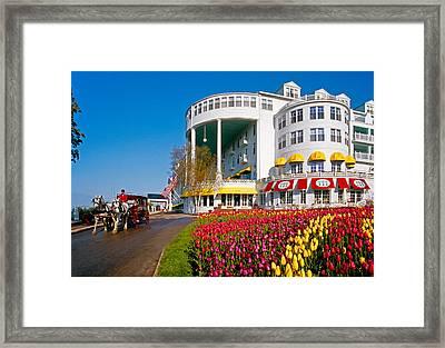 Mackinac Grand Hotel Framed Print by Dennis Cox WorldViews