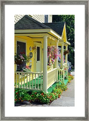Mackinac Island Americana Framed Print