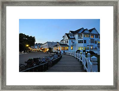 Mackinac Island At Dusk Framed Print