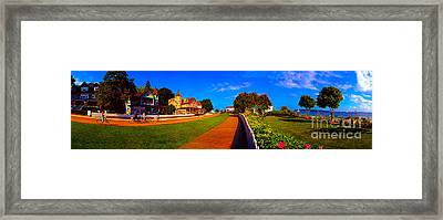 Mackinac Island Flower Garden  Framed Print by Tom Jelen