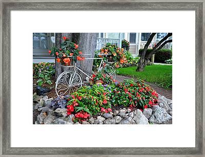 Mackinac Island Garden Framed Print