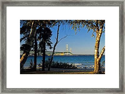 Mackinac Straits Framed Print by Dennis Cox WorldViews