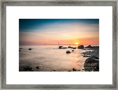 Framed Print featuring the photograph Mackinac Sunrise by Larry Carr